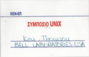 ken thompson's nametag