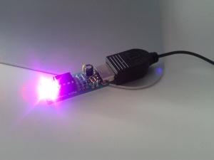 BlinkStick, soldered