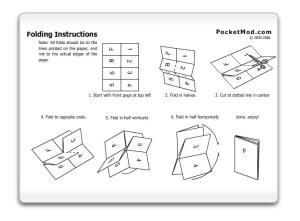 how to fold a pocketmod